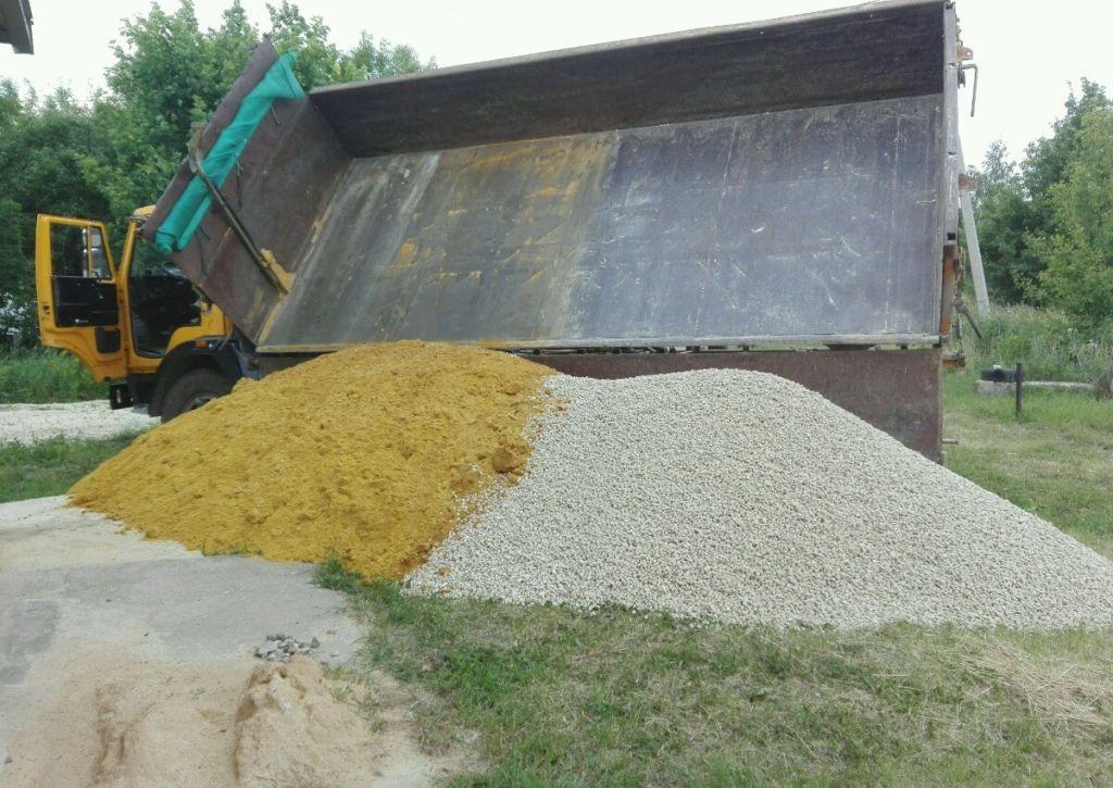 Гравий и песок для бетона